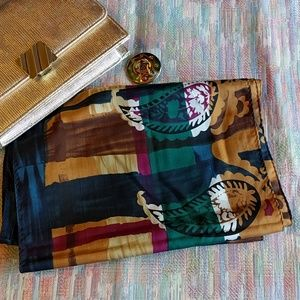 Vintage silk New York Style long scarf