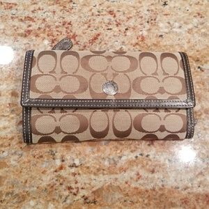 Coach trifold wallet with checkbook cover