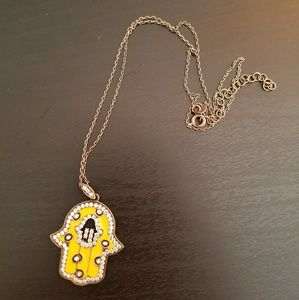 One of a kind hamsa protection evil eye necklace