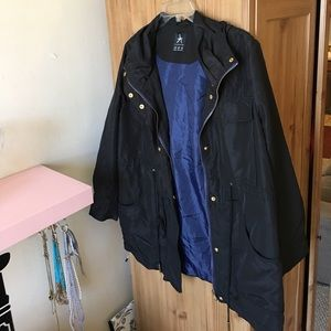 Primark Atmosphere black & blue hooded rain jacket