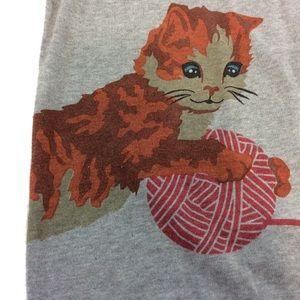 ModCloth Bea & Dot playful cats long sleeve top 2X