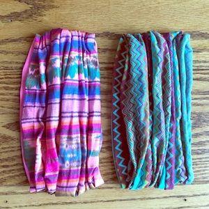 Accessories - Lot 2 Wide Tribal Headbands