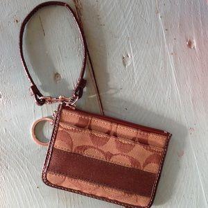 Coach keychain  coin purse.