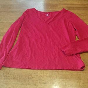 Red Lands' End long sleeve shirt