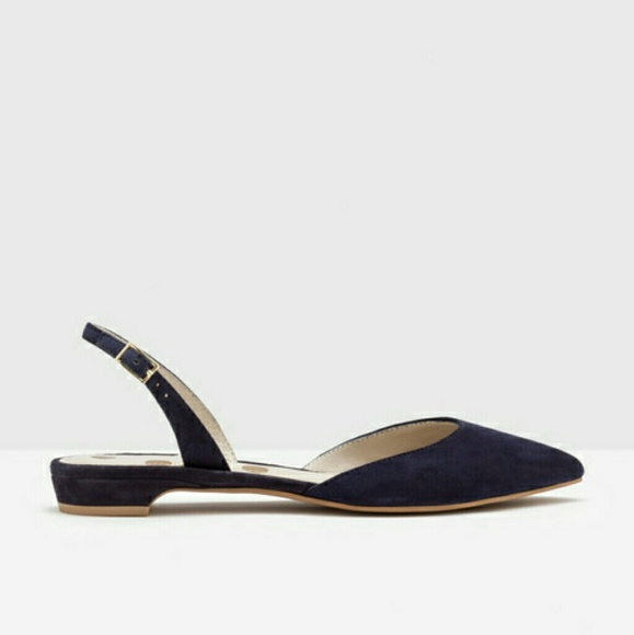 589554c71a Boden Shoes   Cecelia Slingback Flat In Navy Suede 37   Poshmark