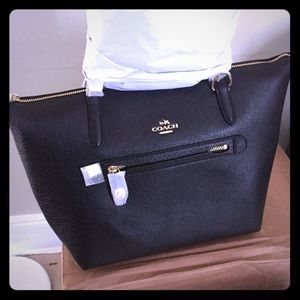 Brand new Black Pebbled Leather Tote Bag