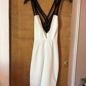 AQ/AQ strappy mini party dress