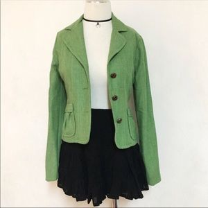 Green retro boho blazer jacket