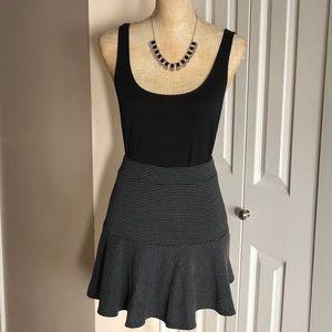 Black & Gray Flare Short Skirt