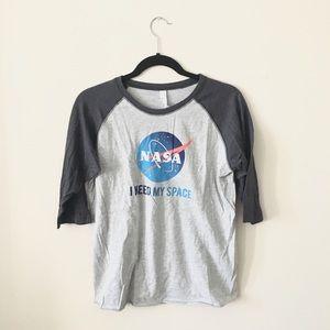 "NASA ""I Need My Space"" Baseball Tee 💫"