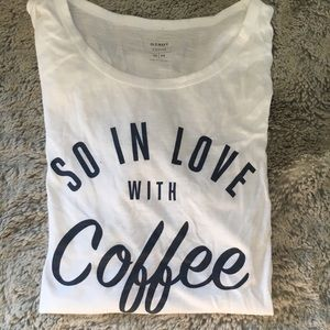 """So in love with coffee"" Graphic short sleeve tee"