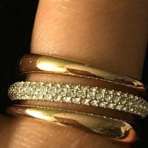 Swarovski layered ring