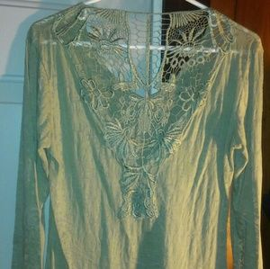 Boutique sheer, laced back (mint green)