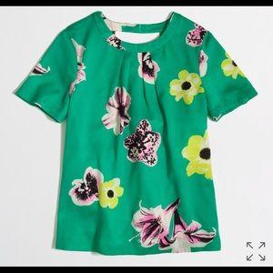 J. Crew punk floral blouse
