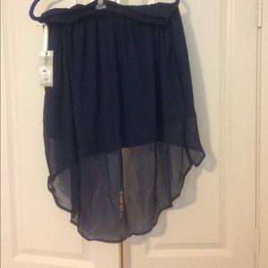 Converse navy blue high low skirt