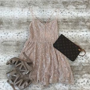 Urban Outfitters Blush Lacey Romper!! 🌸