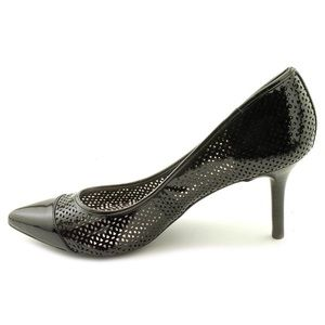 DKNYC Perforated Leather Pump