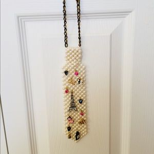 Betsey Johnson French Theme Tie Necklace