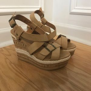 Not Rated Tan Wedge heels