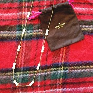 Kate Spade long bow necklace