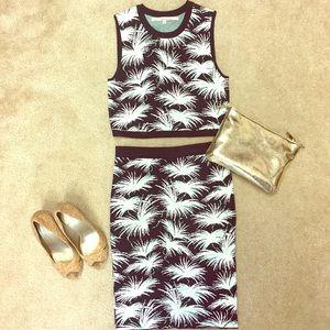 Rachel around Crop Set / Skirt and top