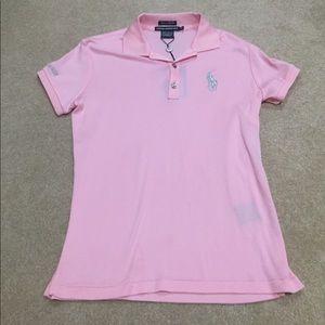 Ralph Lauren Pink Golf Polo (NEVER WORN)
