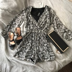 Long Sleeve Dressy Romper - Never worn