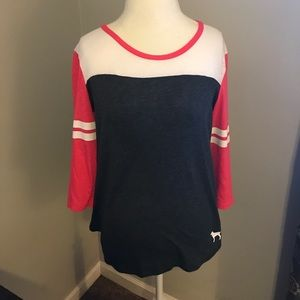 VS Pink 3/4 sleeve shirt