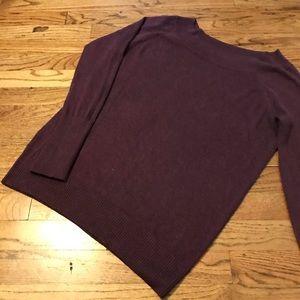 LOFT Plum Wide Crewneck Sweater