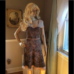 BCBG NUDE LACE DRESS SZ S