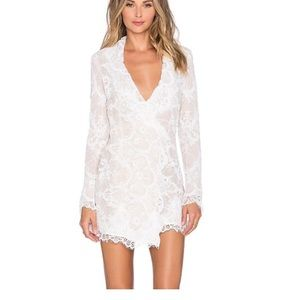 SCF White Envelope Dress