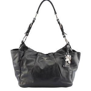 Prada BR4838 Black Leather Hobo 135030