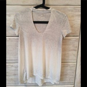 American Eagle Soft and Sexy Choker Collar Tee