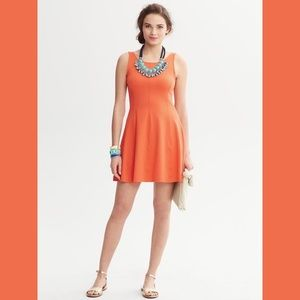 Banana Republic orange dress with back cutout
