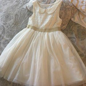 Gorgeous off white dress for girl