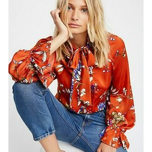 """Free People """"Float on Top"""" Blouse"""