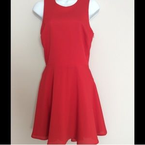 Naven Red Criss Cross Back Dress