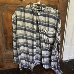 Urban Outfitters White Flannel