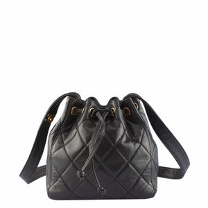 Chanel Black Quilted Lambskin Crossbody 130536
