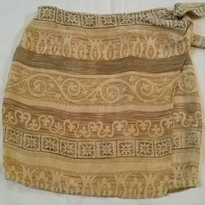 Ann Taylor Silk Mini Wrap Skirt