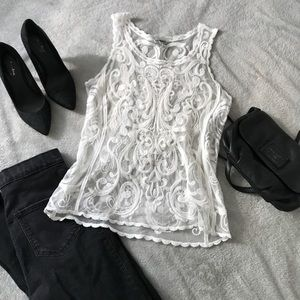 Lace White Tank Top - Dress it up or down!