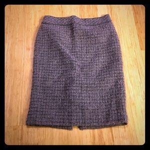 J. Crew No.2 Pencil Skirt In Tweed Metallic-sz00