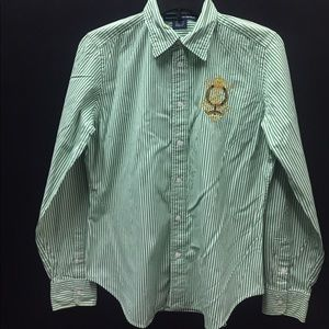 Ladies Ralph Lauren Sport Button Down Shirt.