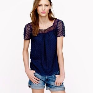 J.Crew Clip Dot Top Last day to purchase 7/26!