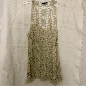 Gold Crochet Top