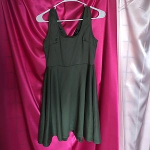 Olive Green Mini Dress M