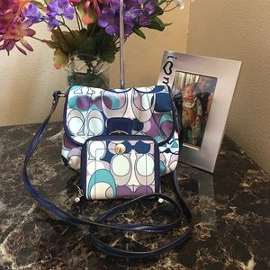 Coach cross body with wallet