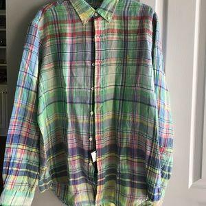 Ralph Lauren Ocean Wash Linen long sleeve shirt