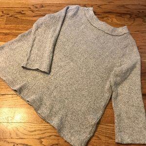 LOFT Grey Wide Crewneck Sweater