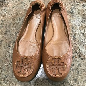 Tory Burch Flats Vintage Leather